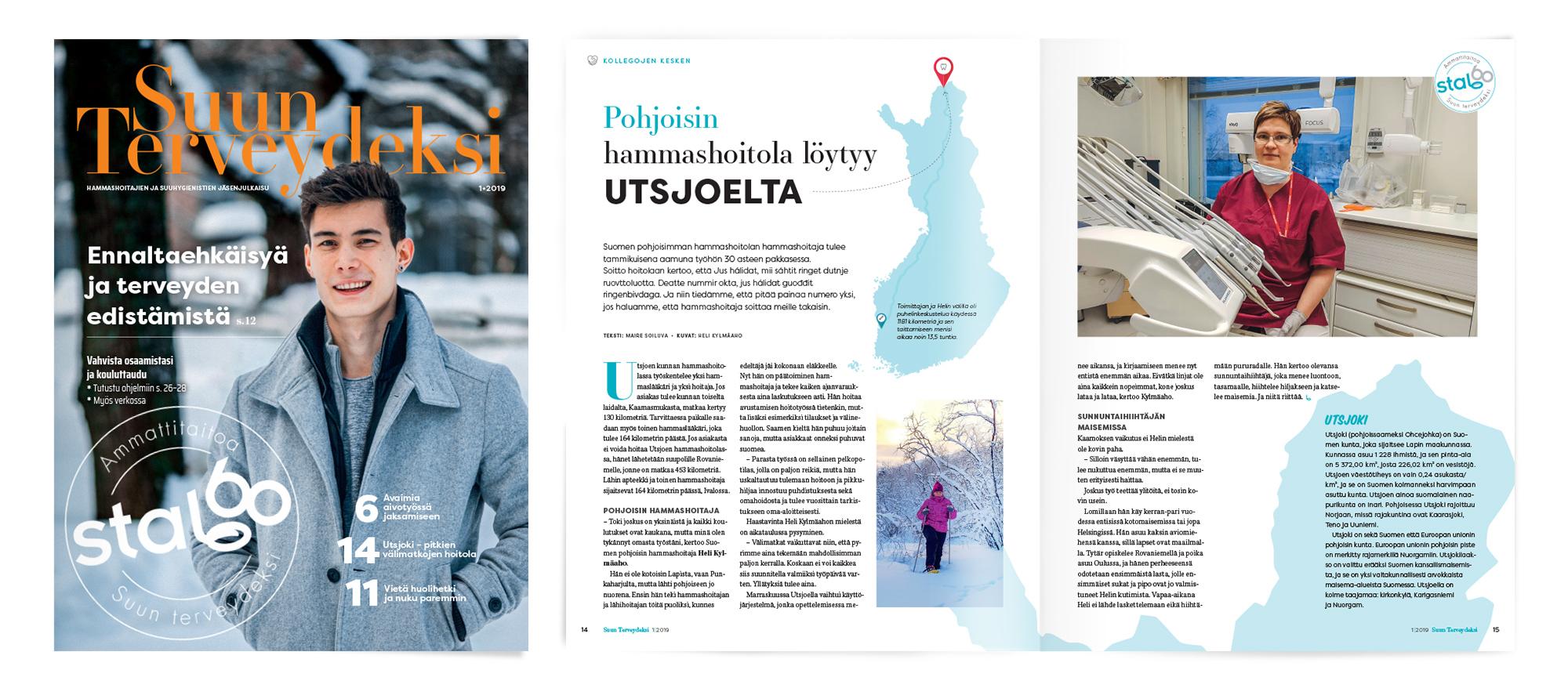 Suun Terveydenhoidon Ammattiliitto STAL, Suun terveydeksi 1/2019, Mainostoimisto MAK Media Oy, Forssa