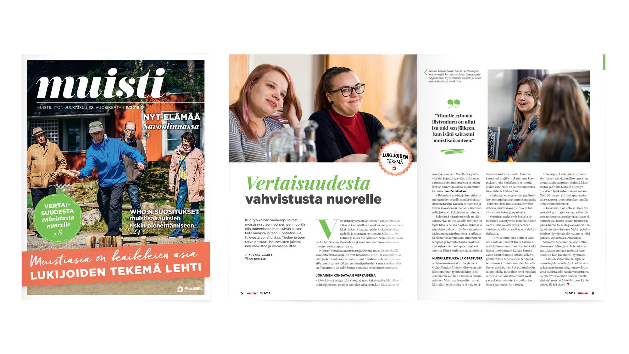 Muistiliitto ry, Muisti-lehti 3/2019